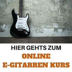 Online E-Gitarren Kurs - Online E-Gitarre lernen