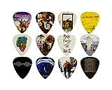 12 x Classic Albums Guitar Plektron Set Hochwertige Gitarre Plektrum Plektron für jeden Gitarristen Doppelseitiger Druck. Plektren 0,46, 0,71, 0,81, 0,88, 0,96 und 1,2 mm Set 2