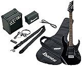 Ibanez IJRG200-BK Jumpstart Set E-Gitarre (Amp, Gigbag, Gurt, Kabel, Plektren, Zubehörtasche)...