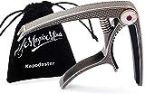 MagicMinds Kapodaster – der intuitive Capo für Profi-Gitarristen mit feinsten Perlmutt-Einlagen - inkl Pin-Haken & Wildleder-Stil Samtbeutel | für Westerngitarre, E Gitarre, Banjo & Ukulele