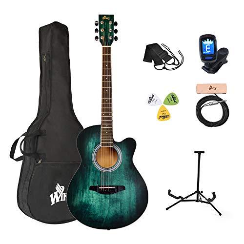Winzz Akustikgitarre Blau-grün,...