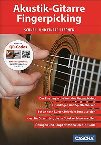 CASCHA Akustik-Gitarre Fingerpicking -...