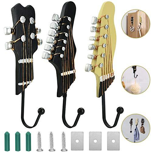 BUZIFU 3 Stück Garderobenhaken Gitarre...