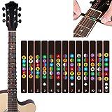 DumanAsen Gitarren Noten-Aufkleber für das Griffbrett - Kinderleicht Akkorde und Noten lernen - Ideal für Akustikgitarre, E-Gitarre, Westerngitarre und Ukulele
