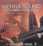 Thomastik 659099 Saiten für Bass-/Schrammelgitarre, Satz Bässe 7-saitig Nylonkern versilbert umsponnen